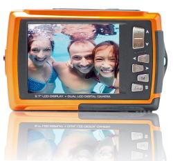 Aqua 5800 Orange 18MP Orange Digital Camera - Thumbnail 2