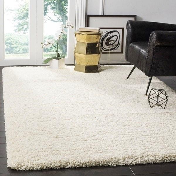 safavieh california cozy plush ivory shag rug (11' x 15') - free