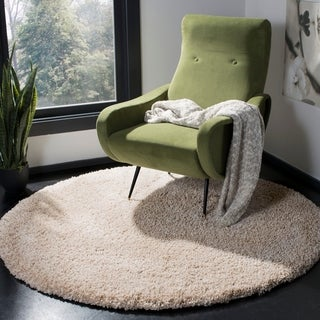 Safavieh California Cozy Plush Beige Shag Rug (4' Round)