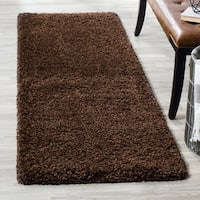 "Safavieh California Cozy Plush Brown Shag Rug - 2'3"" x 7'"