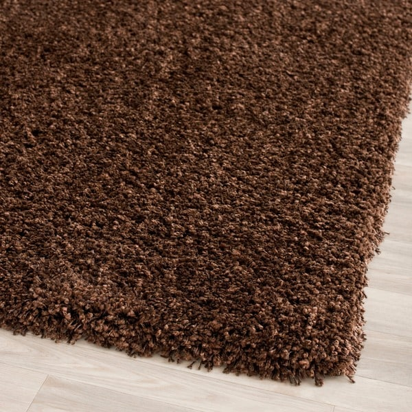 Safavieh California Cozy Solid Brown Shag Rug (3' x 5')