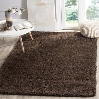 Safavieh California Cozy Plush Brown Shag Rug (3' x 5')
