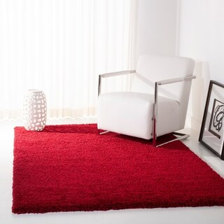 Safavieh California Cozy Solid Red Shag Rug (11' x 15')