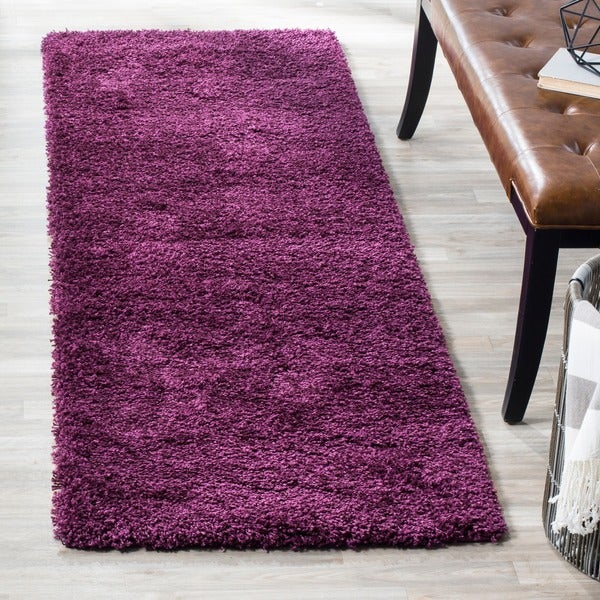 Safavieh California Cozy Plush Purple Shag Rug (2'3 x 9')