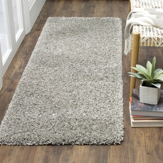 Safavieh California Cozy Plush Silver Shag Rug (2'3 x 9')