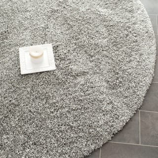 Safavieh California Cozy Plush Silver Rug 4 Round