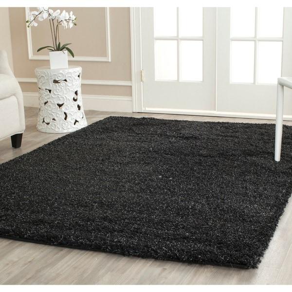 Safavieh California Cozy Solid Black Shag Rug (9'6 x 13')