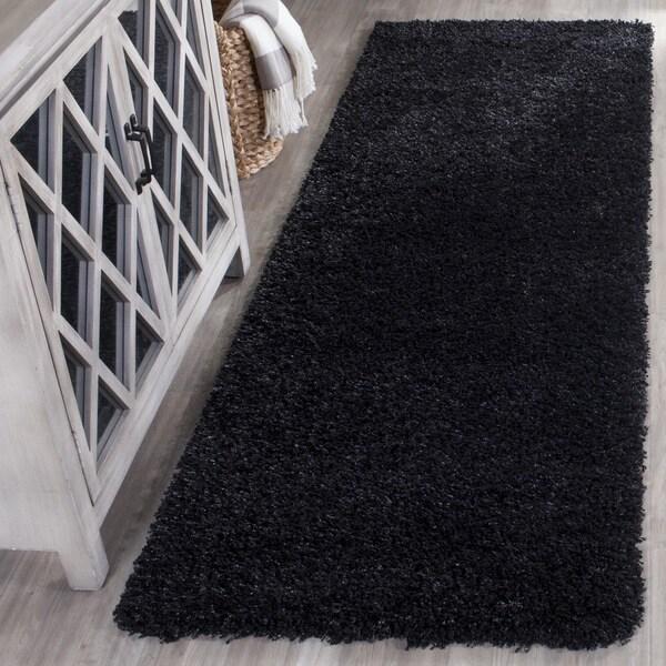Safavieh California Cozy Plush Black Shag Rug (2'3 x 11')