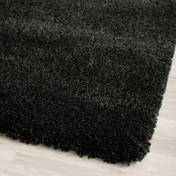 Safavieh California Cozy Solid Black Shag Rug (2'3 x 9')