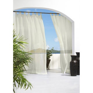 Escape Tab Top Indoor/Outdoor 84 inch Voile Curtain Panel Pair - 54 x 84
