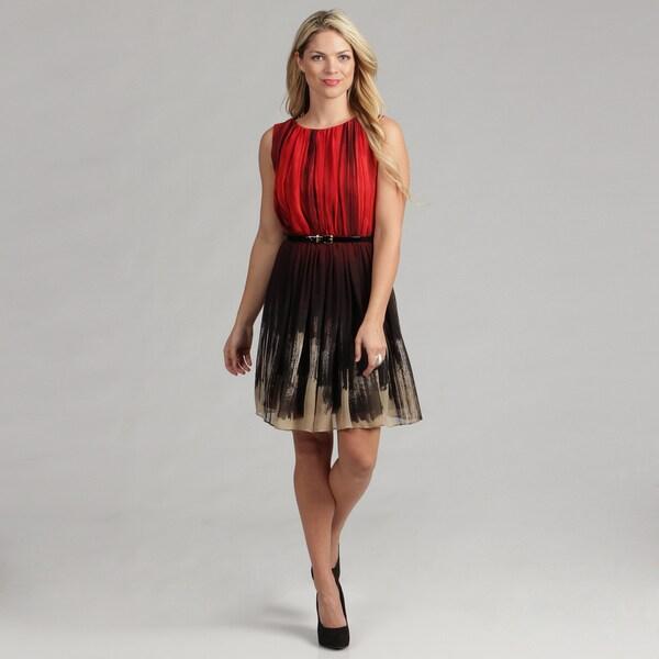 Calvin Klein Women's Sleeveless Chiffon Dress