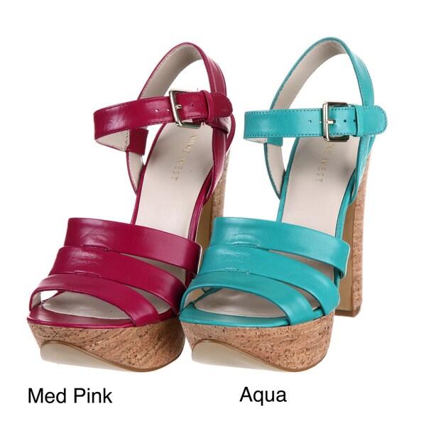 Nine West Women's 'Intuitive' Leather Platform Sandals