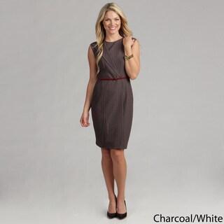 Calvin Klein Women's Striped Belted Dress FINAL SALE