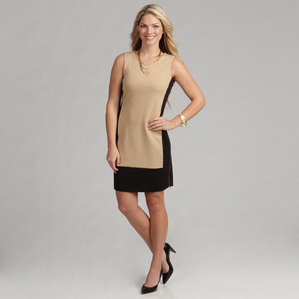 Calvin Klein Women's Sleeveless Side Zipper Ponte Dress