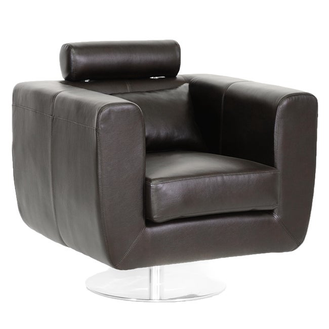 Leather Swivel Chair With Adjustable Headrest Free Shipping Today 14213572