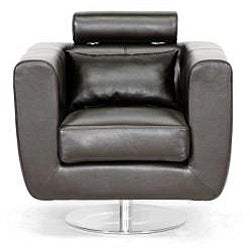 Leather Swivel Chair With Adjustable Headrest Free