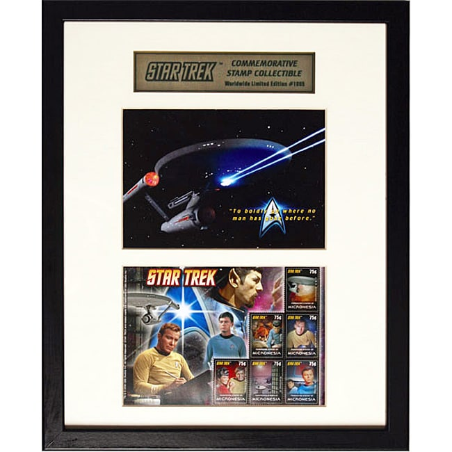 Star Trek 'Captain Kirk and Crew' Commemorative Postage Stamps and Photo Collectible