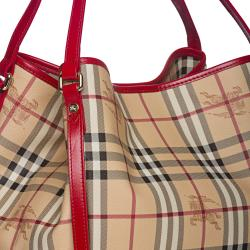 Burberry Small Haymarket Canterbury Tote