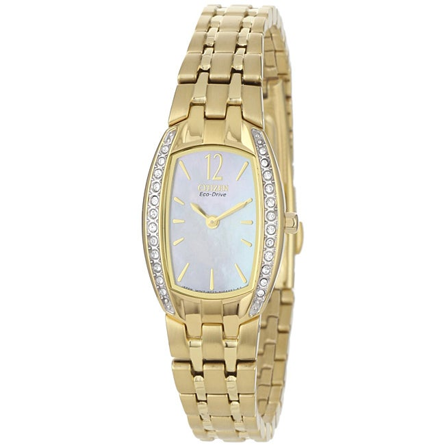 Citizen Women's EW996250D Eco-Drive Crystal Goldtone Stainless Steel Watch