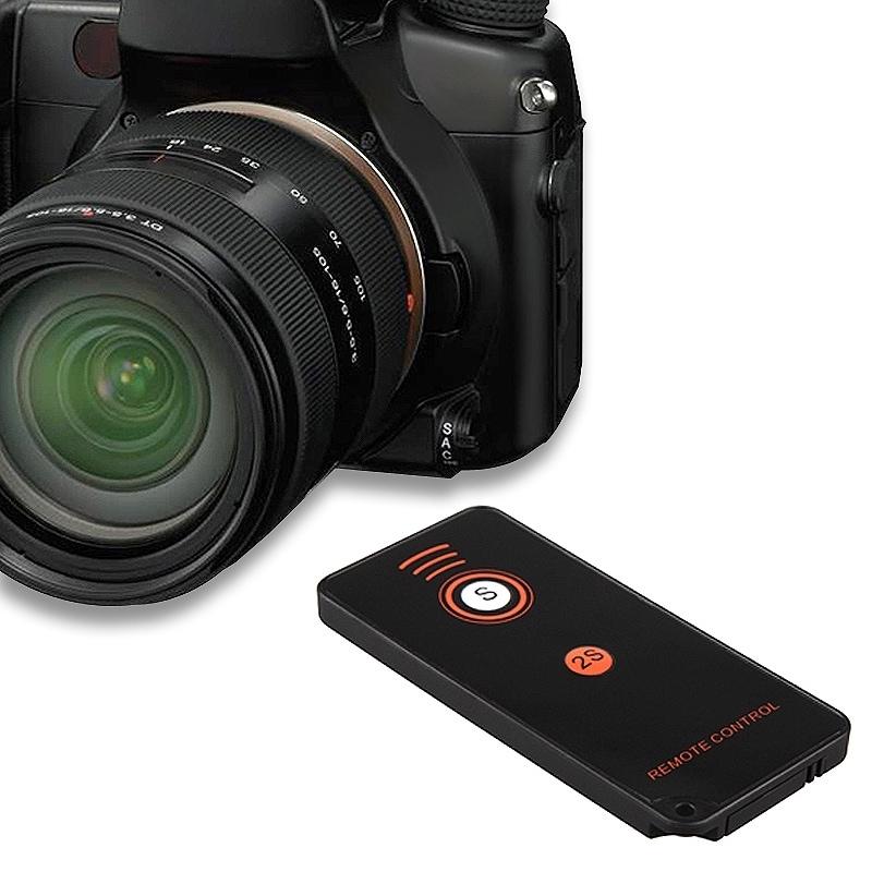 INSTEN Black IR Remote Control for Sony Alpha Series DSLR Camera