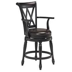 Monarch Island with Granite Top Black/ Distressed Oak Finish and Bar Stools by Home Styles - Thumbnail 2
