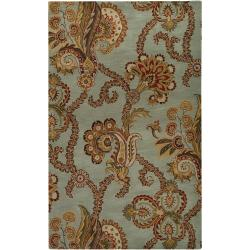 Hand-tufted Blue Ora Wool Rug (3'3 x 5'3)