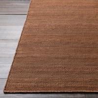 Hand-woven Brown Beringer Reversible Jute Rug Area Rug - 5' x 8'