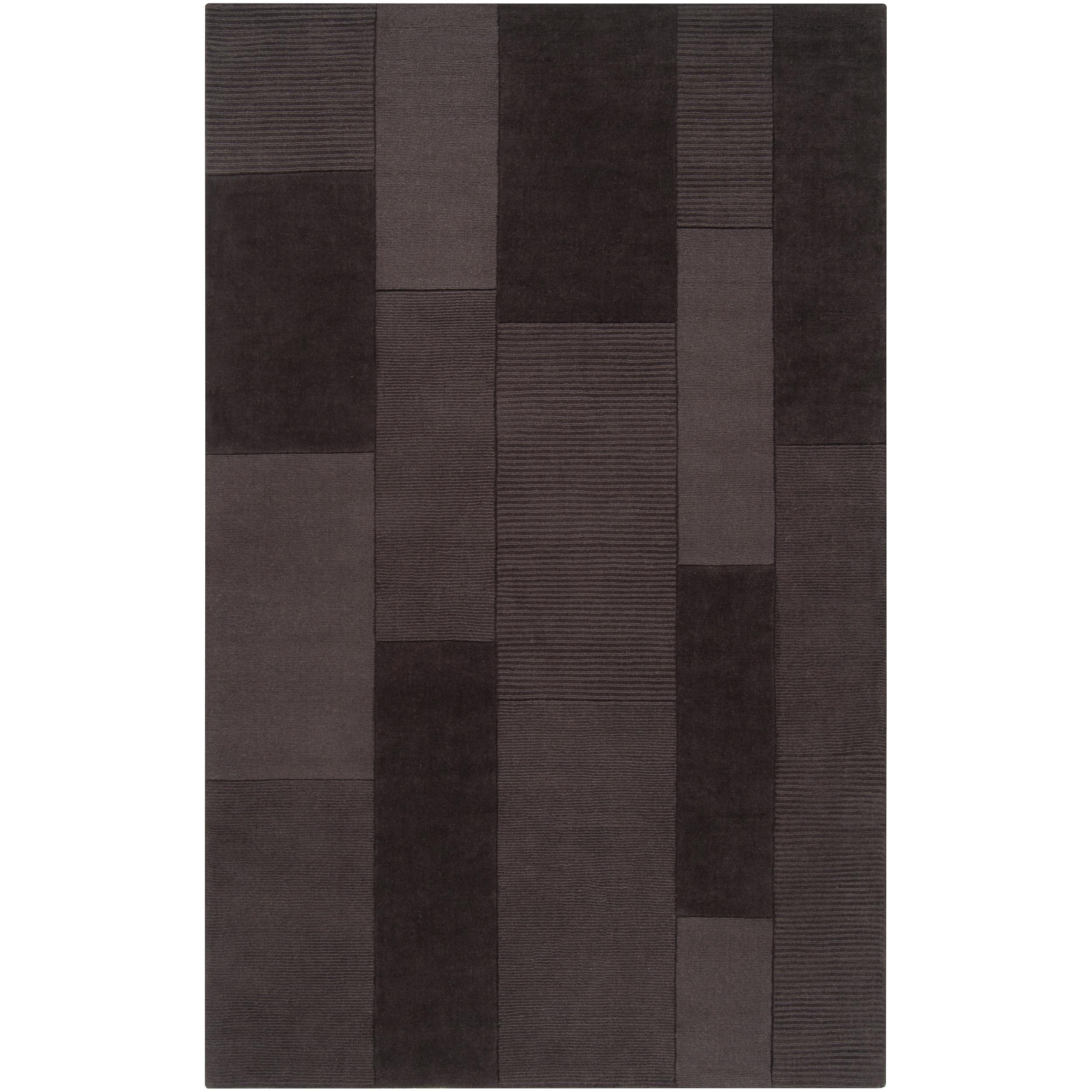 Hand-crafted Solid Grey Barrett Wool Rug (3'3 x 5'3)