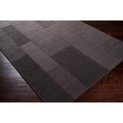 Hand-crafted Solid Grey Barrett Wool Rug (3'3 x 5'3) - Thumbnail 1