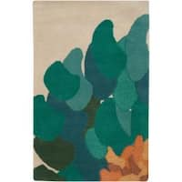 Hand-tufted Contemporary /Green Bostor New Zealand Wool Abstract Area Rug (3'3 x 5'3)
