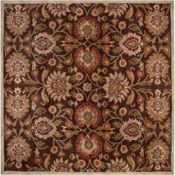 Hand-tufted Brown Kiser Wool Rug (8' Square)
