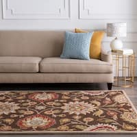 Hand-tufted Brown Kiser Wool Area Rug - 8' Square