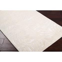 Hand-tufted Ivory Zebra Animal Print Cane Wool Rug (3'3 x 5'3) - Thumbnail 1