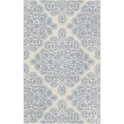 Hand-tufted White Cane Geometric Pattern Wool Area Rug (9' x 13') - 9' x 13' - Thumbnail 0