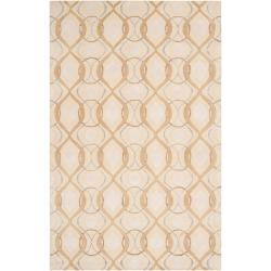 Hand-tufted Green Cane Moroccan Tile Pattern Wool Area Rug - 9' x 13' - Thumbnail 0
