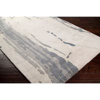 """Hand-tufted Grey Cane Abstract Plush Wool Area Rug - 3'3"""" x 5'3"""""""