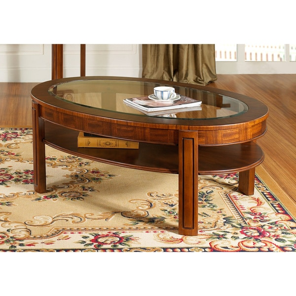 Somerton Dwelling Fashion Trend Oval Cocktail Table