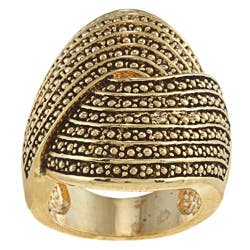 City by City Goldtone Antiqued Large Swirl Pave Design Ring|https://ak1.ostkcdn.com/images/products/6654981/Goldtone-Antiqued-Large-Swirl-Pave-Design-Ring-P14215893.jpg?impolicy=medium