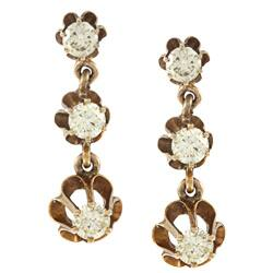 Pre-owned 14k Yellow Gold 1-1/3ct TDW Estate Earrings (L-M, SI1-SI2)|https://ak1.ostkcdn.com/images/products/6654989/14k-Yellow-Gold-1-1-3ct-TDW-Estate-Earrings-L-M-SI1-SI2-P14215849.jpg?impolicy=medium