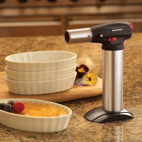 BonJour Chef's Tools Crème Brûlée Torch and 4 Ramekins Set
