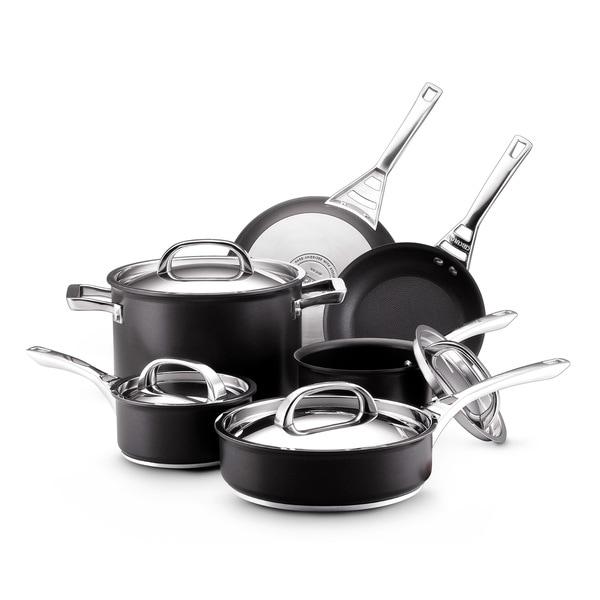 Infinite Circulon Hard Anodized Nonstick 10-piece Cookware Set