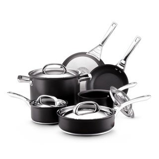 Infinite Circulon Hard Anodized Nonstick 10-piece Cookware Set