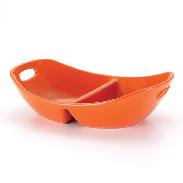 Rachael Ray Serveware Orange 14-inch Divided Dish