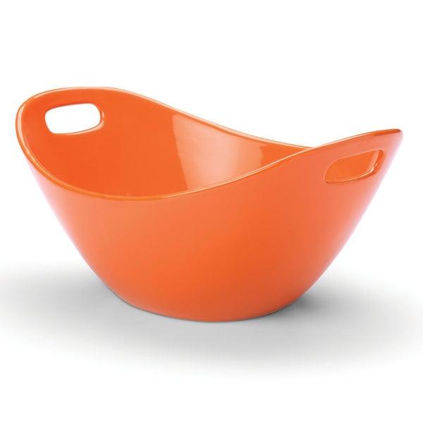 Rachael Ray Serveware 15-inch Salad Bowl, Orange
