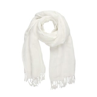 Handmade Saachi Women's Solid Linen Rayon Scarf (India)