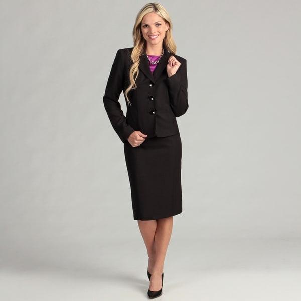 Evan Picone Women's 3-button Skirt Suit