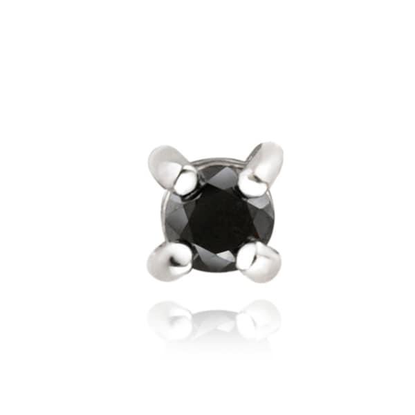 DB Designs Sterling Silver 1/4ct TDW Black Diamond Single Earrings