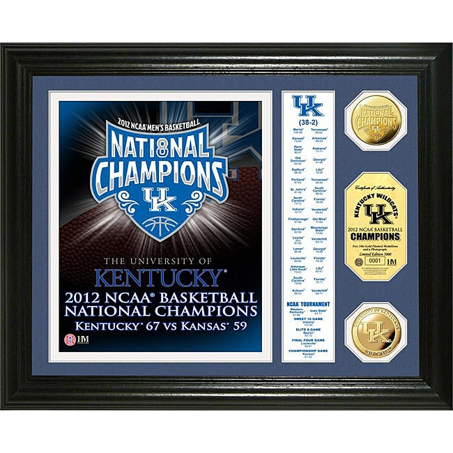 University of Kentucky 2012 NCAA National Champions Gold Coin Banner Photo Mint