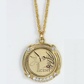 American Coin Treasures Gold Plated Hummingbird Coin Pendant