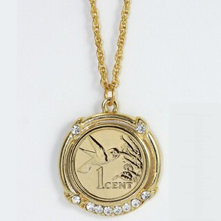 American Coin Treasures Gold Plated Hummingbird Coin Pendant